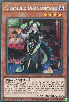 Chamber Dragonmaid-Secret Rare-1st Edition-ETCO EN026 (NM)