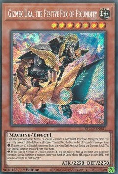 Gizmek Uka,The Festive Fox of Fecundity-Secret Rare-1st Edition-ETCO EN031 (NM)