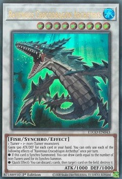 Ravenous Crocodragon Archethys-Ultra Rare-1st Edition-ETCO EN043 (NM)