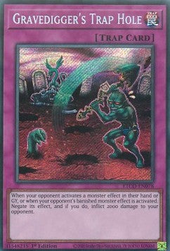 Gravedigger's Trap Hole-Secret Rare-1st Edition-ETCO EN078 (NM)