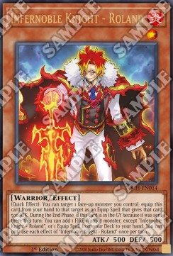 Infernoble Knight - Roland-Ultra Rare-1st Edition-TOCH EN014 (NM)