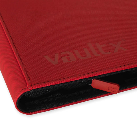 Vault X: 9-Pocket eXo-Tec® Zip Binder-Red (Pre-Order)