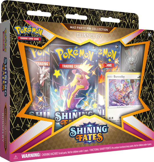Pokemon-Shining Fates- Mad Party Pin Collection-Bunnelby
