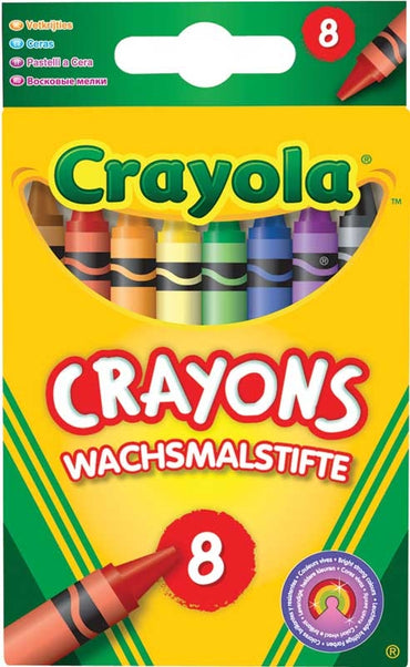 Crayola-8 Coloured Crayons