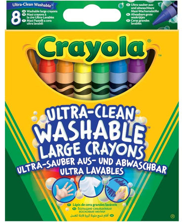 Crayola-8 Washable Large Crayons