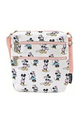 Pastel Minnie & Mickie Passport Bag-Disney by Loungefly