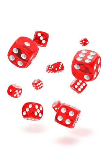 Oakie Doakie Dice D6 Dice 12 mm Speckled - Red (36)