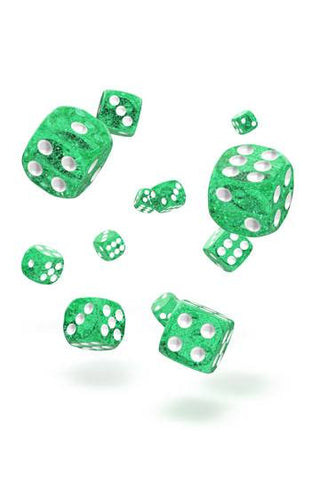 Oakie Doakie Dice D6 Dice 12 mm Speckled - Green (36)
