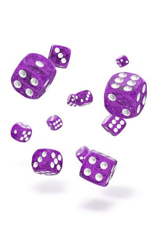Oakie Doakie Dice D6 Dice 12 mm Speckled - Purple (36)
