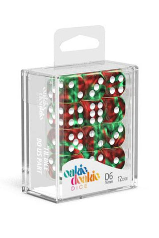 Oakie Doakie Dice D6 Dice 16 mm Gemidice - Bloody Jungle (12)