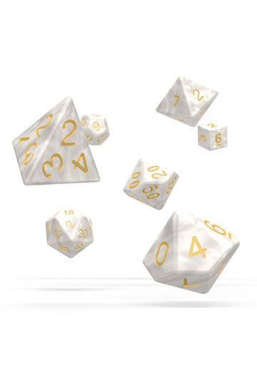 Oakie Doakie Dice RPG Set Marble - White (7)