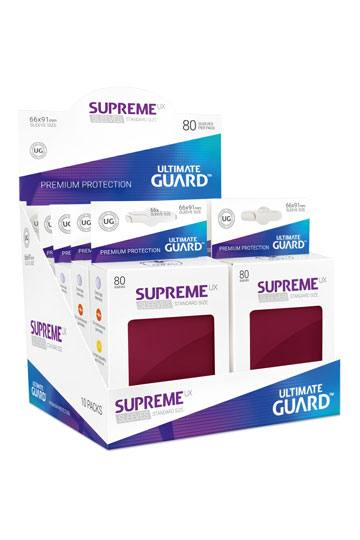 Ultimate Guard Supreme UX Sleeves Standard Size Burgundy (80)