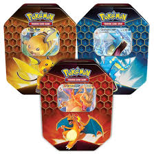 Hidden Fates Collectors Tin - Set of Three Raichu,Charizard & Gyarados (Reprint)