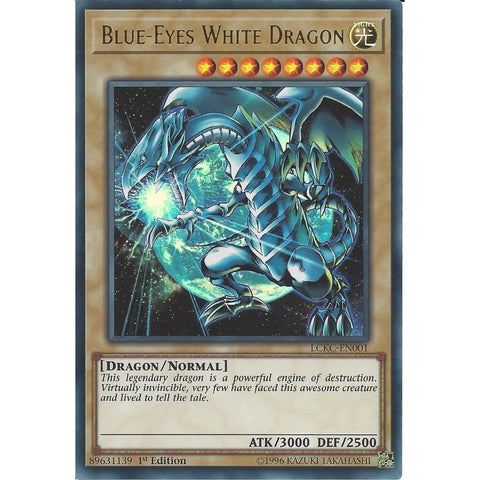 Blue-Eyes White Dragon-Ultra Rare-1st Edition-LCKC EN001 (NM)