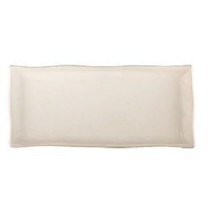Vance Kitira Chai Rectangle Tray White