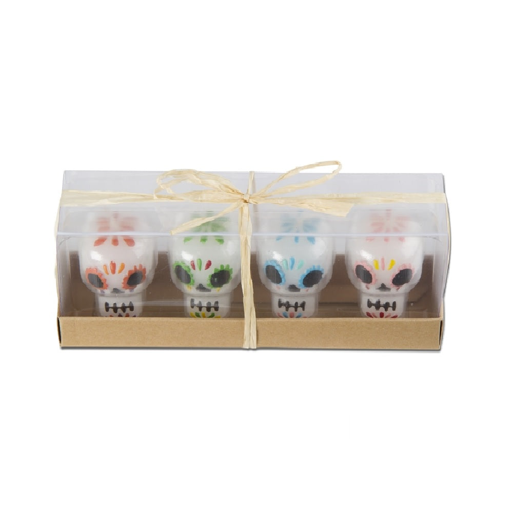 Tag Sugar Skull Candles S/4