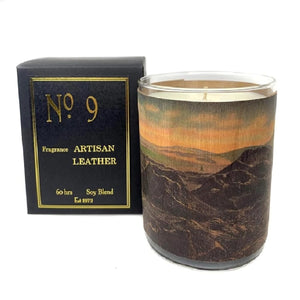 Spitfire Girl Wood Candle No. 9 Artisan Leather