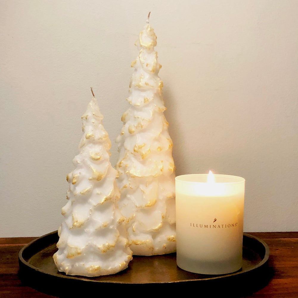 Vance Kitira Rhapsody Tree Candle Small White