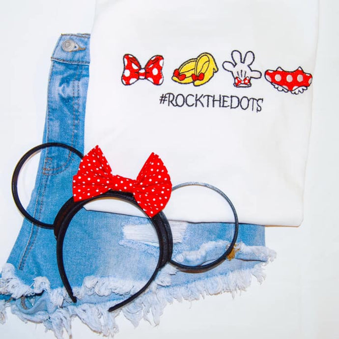 Rock the Dots Embroidered Tee