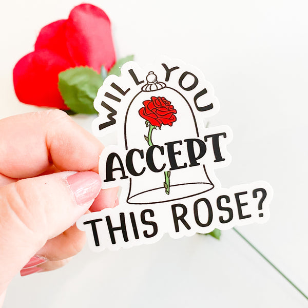 Accept This Rose Sticker