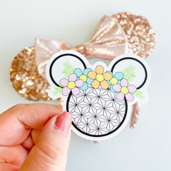 Epcot Flower Crown Sticker