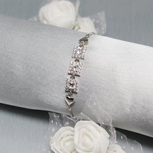 Load image into Gallery viewer, Silver Ornate Zircon Bracelet-GIVA Jewellery
