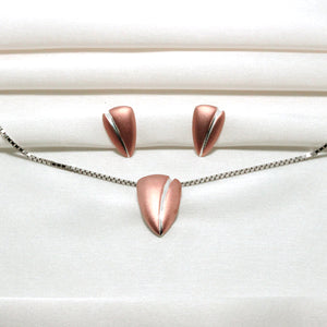 Rose Gold Coffee Bean Set-GIVA Jewellery