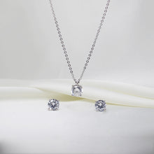 Load image into Gallery viewer, Classic Silver Zircon Set
