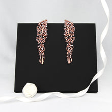 Load image into Gallery viewer, Rose Gold Statement Earrings
