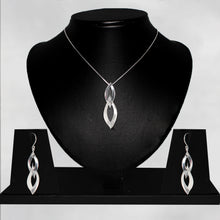 Load image into Gallery viewer, Silver Double Dangle Flame Set