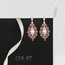 Load image into Gallery viewer, Rose Gold Opulent Desire Earring