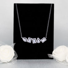 Load image into Gallery viewer, Silver Glam Baguette Necklace