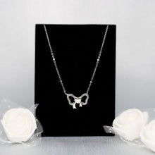 Load image into Gallery viewer, Silver Charming Bow Pendant with Chain
