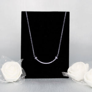 Silver Dazzling Smile Pendant with Chain