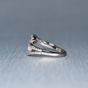 Silver Zircon Gliding Shimmer Ring-GIVA Jewellery