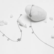 Load image into Gallery viewer, Silver Zircon Bubble Anklet