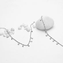 Load image into Gallery viewer, Silver Star Charm Anklet