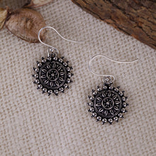 Load image into Gallery viewer, AVNI - Oxidised Silver Mandala Earrings
