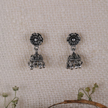 Load image into Gallery viewer, Oxidised Silver Classic Jhumki