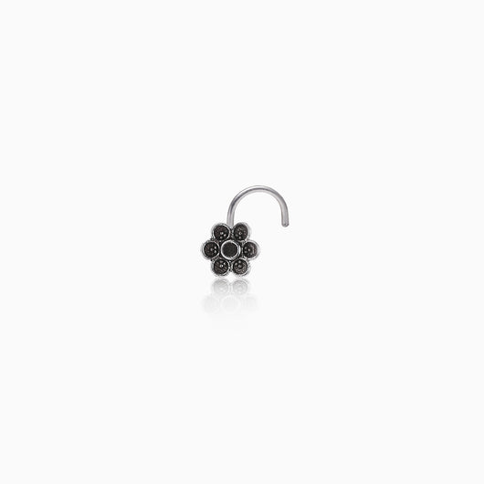 AVNI - Oxidised Silver Classic Nose Pin