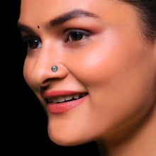 Load image into Gallery viewer, AVNI - Oxidised Silver Jasmine Nose Pin
