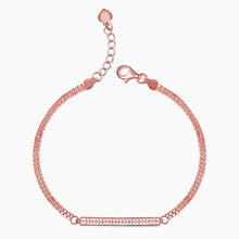 Load image into Gallery viewer, Rose Gold Zircon Chain Bracelet