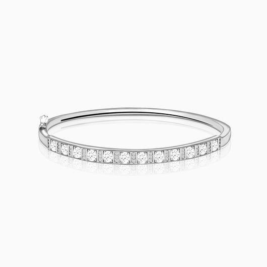 Silver Sunshine Bangle Bracelet
