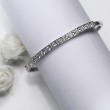 Load image into Gallery viewer, Silver Sunshine Bangle Bracelet
