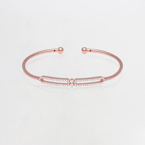 Rose Gold Layered Sparkling Bracelet