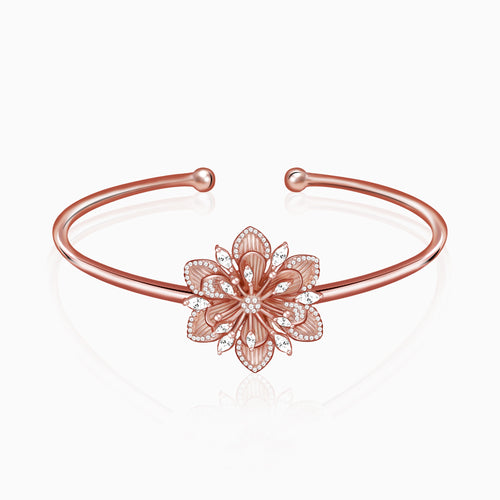 Rose Gold Flower Blossom Bracelet