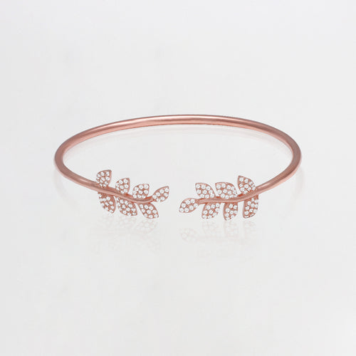 Rose Gold Swaying Leaf Bracelet