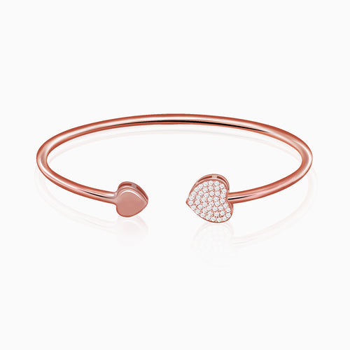 Rose Gold Shining Heart Bracelet