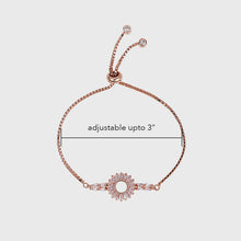 Load image into Gallery viewer, Rose Gold Baguette Sunshine Silver Bracelet