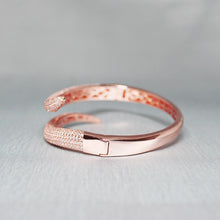 Load image into Gallery viewer, Silver Rose Gold Rattle Cuff Bracelet-GIVA Jewellery